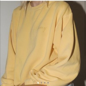 Brandy Melville yellow honey sweater sweatshirt